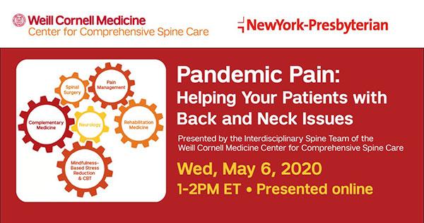 Pandemic Pain Webniar May 2020